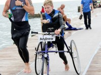 Andrew transfers from water to biking anf later running on his PETRA RaceRUNNER